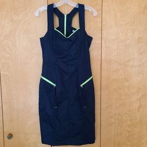Yoana Baraschi navy & green zipper dress